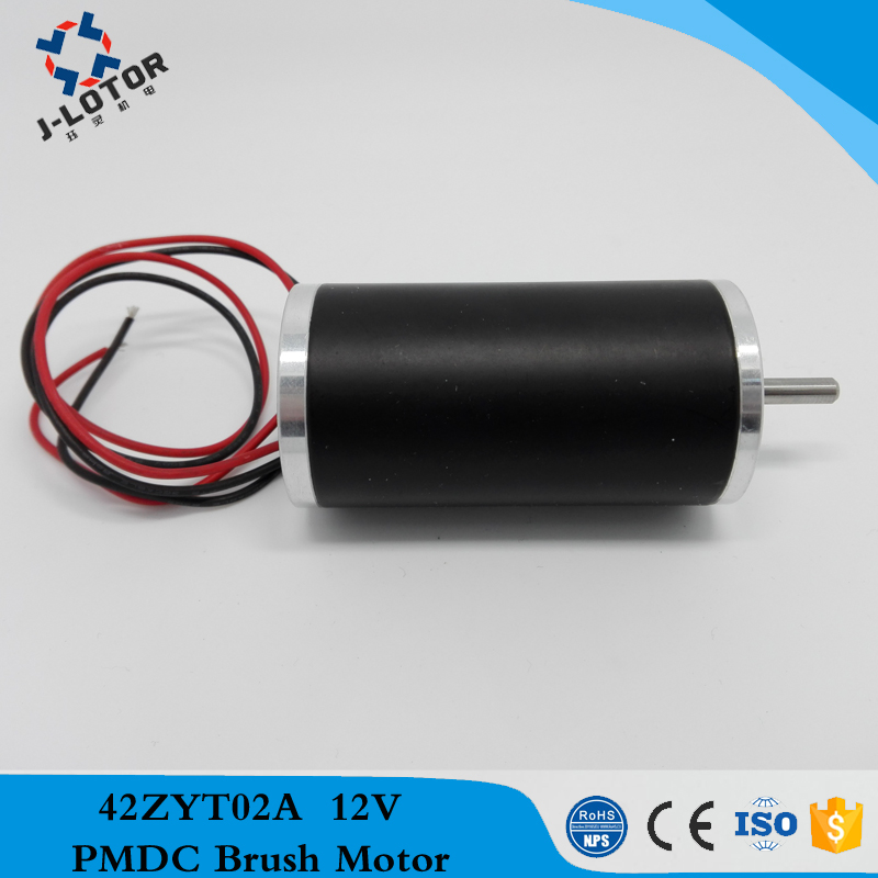 42ZYT02A 0.8A~2.7A 12v 24v 48v Stable speed and low noise Permanent Magnet Brush DC Electric Motor with 57mNm 3100rpm~3750rpm js zyt 19 permanent magnet dc motor speed 1800 rpm high speed miniature single phase dc motor dc220v 200w