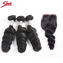 Sleek Brazilian Human Hair Weave Loose