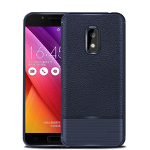 Soft TPU Silicone Lychee Leather Brushed Armor Case Ultra Slim Impact Protective Phone Back Cover For ASUS Zenfone V Live V500KL цена в Москве и Питере
