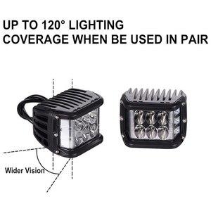 "Image 2 - 2/10PCS 4 ""3 Seiten Shooter 60W Led Arbeit Licht Cube Off Road 4x4 ATV Led Licht Fahren Lampe für SUV Lkw Auto Boot 10 30V"