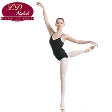 Girls Black Ballet Leotards Stage Performance Gymnastic Dancewear Adults Practice Clothing Female Competition Dance Skirt