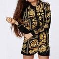 Top Brand 2016 Otoño Señora Palacio de Estilo Americano Europeo Blusa Retro Caliente de Un Solo Pecho Camisa de Manga Larga de Moda Camisa GB8039