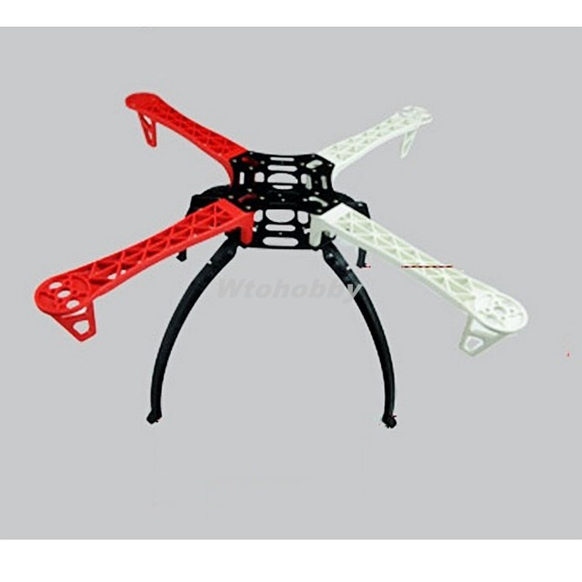 450 quadcopter frame w black tall landing gear skid for dji f450 f550 sk480 fpv