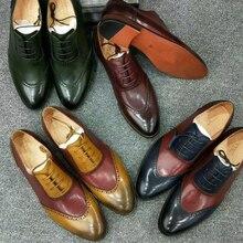 Men's brogue  handmade  oxford shoes