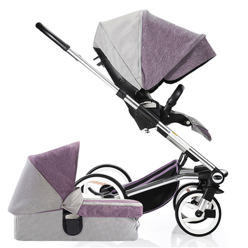 Hot Sale!! Luxury Baby Stroller 2 in 1 for Infant Newborn,Stroller High Landscape Baby Pram Pushchair,Bassinet Stroller System 2015 baby stroller 3 in 1 600d oxford cloth pram for kids 0 3 years old baby shock absorbers pushchair with carry cot bassinet