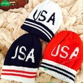 New USA american Beanie hat wool winter warm knitted caps hats for man women Skullies cool Beanies wholesale
