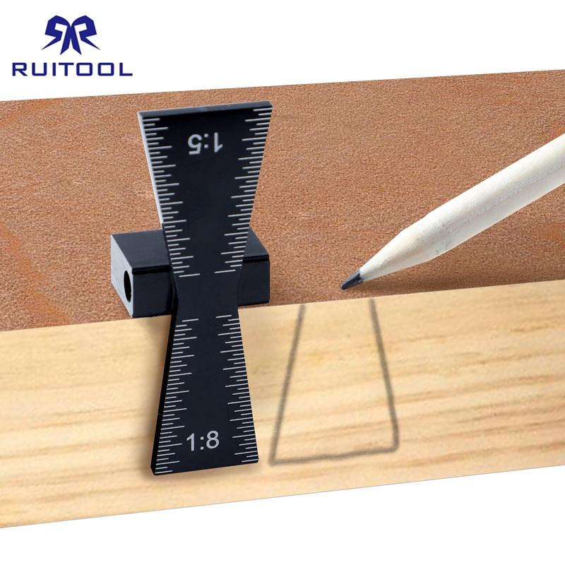 Black Aluminum Woodworking Dovetail Marker Marking Gauge For Wood 1:5 /& 1:8 Tool