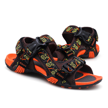 Summer Outdoor Casual Sandals for Male Gladiator Antiskid Fashion Beach Shoes Man Footwear 2#15D50