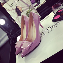 Pumps 2016 autumn with the new single-pointed shoes with sweet tip eight-color adhesive shoes, single-port women's shoes