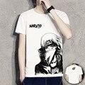 Homens Mulheres Camiseta Naruto Anime Tema Branco Impresso Verão T-shirt de Manga Curta Casuais