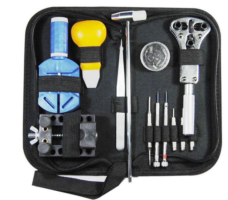 Hot sale New 13pcs Watch tool repair kit clock rear cover suit open table tools free shipping