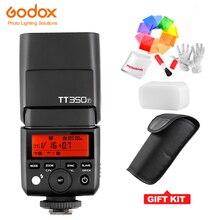 후지 필름 미니 스피드 라이트 카메라 플래시/X1T F ttl hss gn36 용 godox tt350f 후지 용 고속 1/8000 s 2.4g 무선 x 시스템