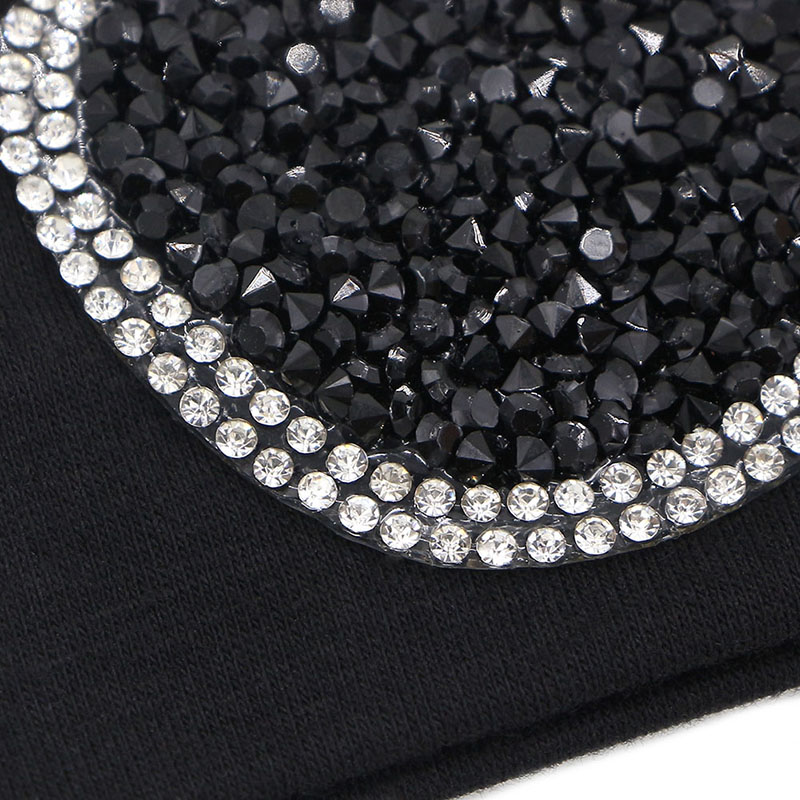 hair band or elastic black with rhinestone design for woman or young girl new