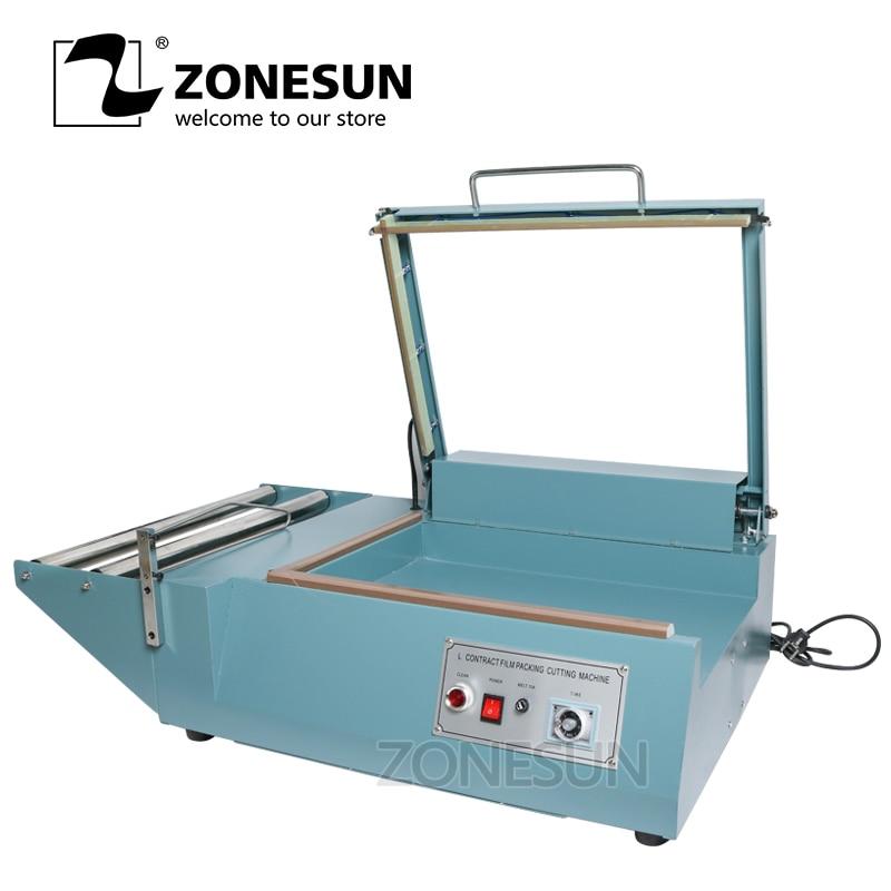 ZONESUN Manual L bar sealing machine sleeve plastic wrapping bag sealer shrink film sealing machine PVC plastic sealer zonesun pe stretch film machine
