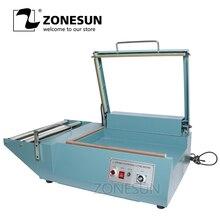 ZONESUN Manual L bar sealing machine sleeve plastic wrapping bag sealer shrink film sealing machine PVC plastic sealer