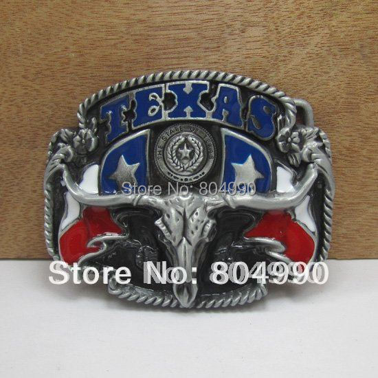 Western bull head belt buckle with pewter finish FP-02602 suitable for 4cm wideth belt with continous stock
