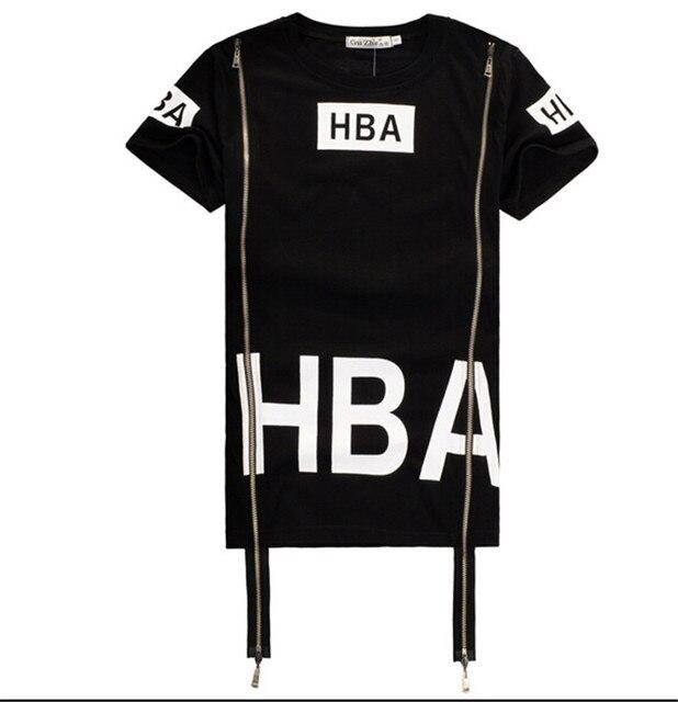 47612e90d4a EXO Band Clothing Cotton Extend Hip Hop T Shirt Zipper HBA Famous Brand Tshirts  Men Lovers Couples Longline Oversized T Shirts