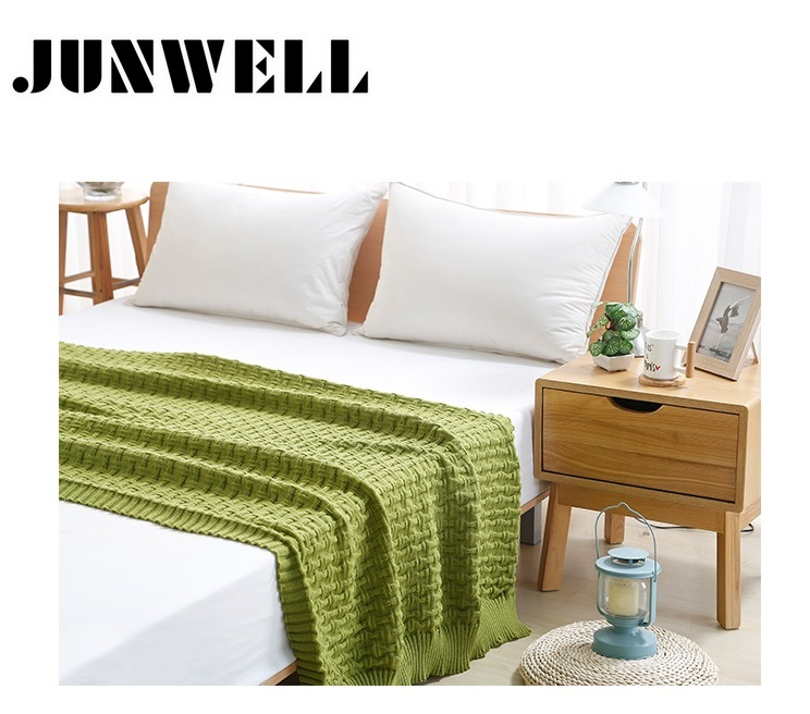 120*180cm European style 100% Acrylic blanket Twist braid knitted fabric multi functional Bed Sofa cover Throw