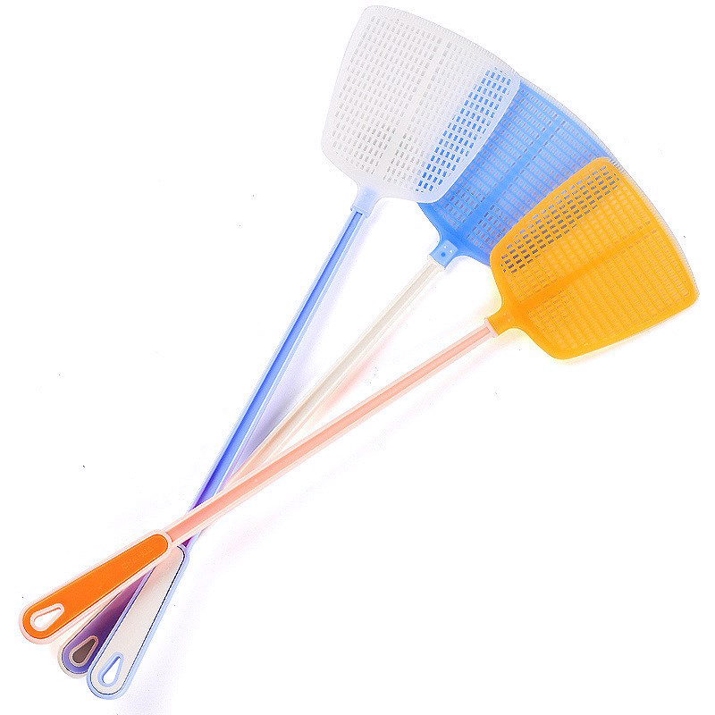 1Pcs Durable Hollow Household Long Handle Plastic Fly Trap Mosquito Swatter Fly Killer Hand Manual Flapper Pest Control Random