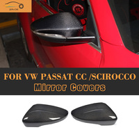 Carbon Fiber ABS Side Mirror Cover Auto Car FULL Replacement Mirror Molding Trims For Scirocco Fit