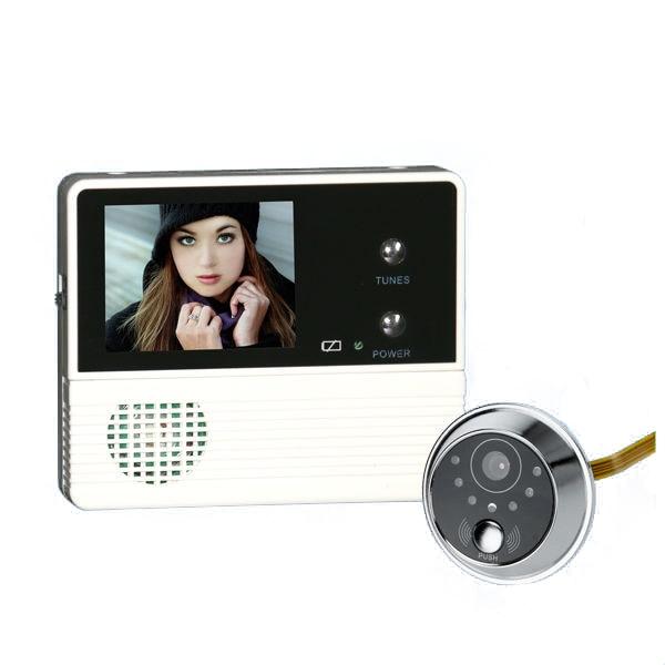 """Saful 2,4 """"TFT LCD digital de vídeo timbre puertas cámaras mirilla puerta espectador Ojo de cámara de infrarrojos visión para el hogar"""
