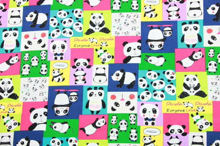 Hecho a mano con Cremallera Monedero Hecho con tela de plata panda