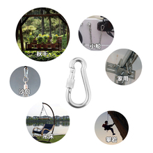 Durable Camping Hammock Carabiner Screw Locking Gate Stainless Steel Hook Clip 500kg for Caving Rappelling Roofing Descending