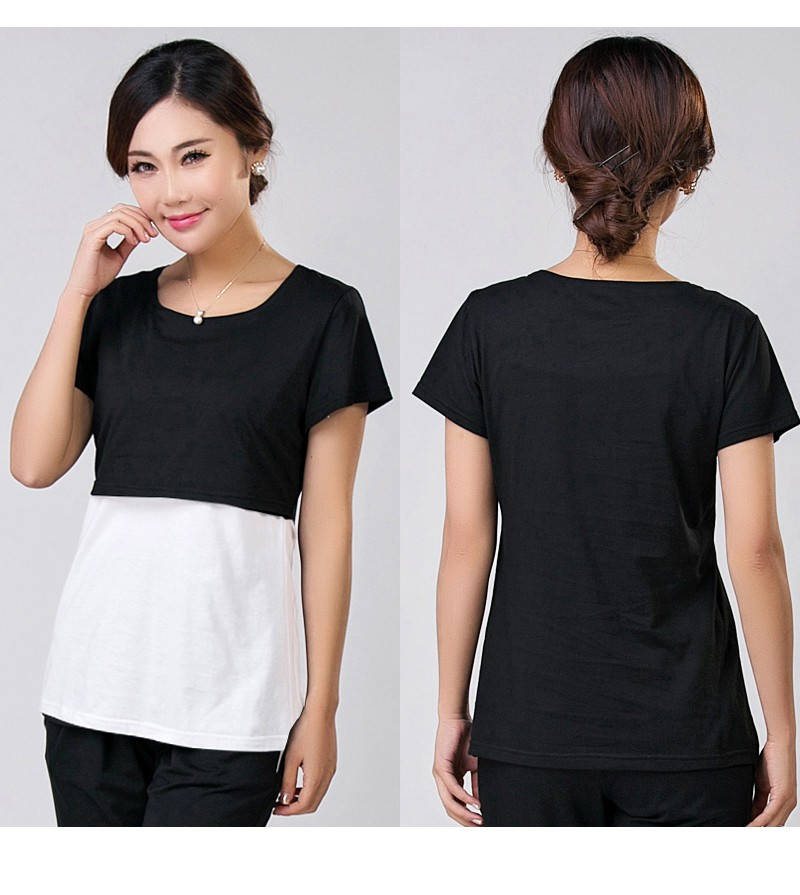 3054b494d3231 2017 Summer Breast Feeding Tops Tees Maternity Nursing Clothes Pregnant  Women Breastfeeding T-shirt Maxi