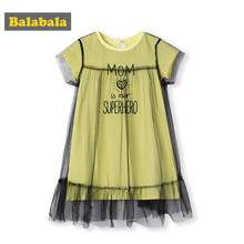 BalabalaNew Fashion Kids Baby Girls Princess Dresses Lovely Sleeveless Dresses Birthday Party Outfits 2019 Children Clothing(China)