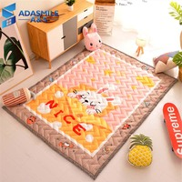 Nordic Children Room Rug And Carpet Wave Quilted Area Rug Bedroom Cartoon Rabbit Home Living Room Crawling Play Mat Carpets