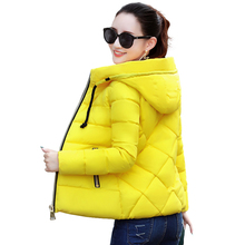 2019 New Candy Color Zipper Warm Winter Jacket Women Down Parkas Thick Hooded Fe