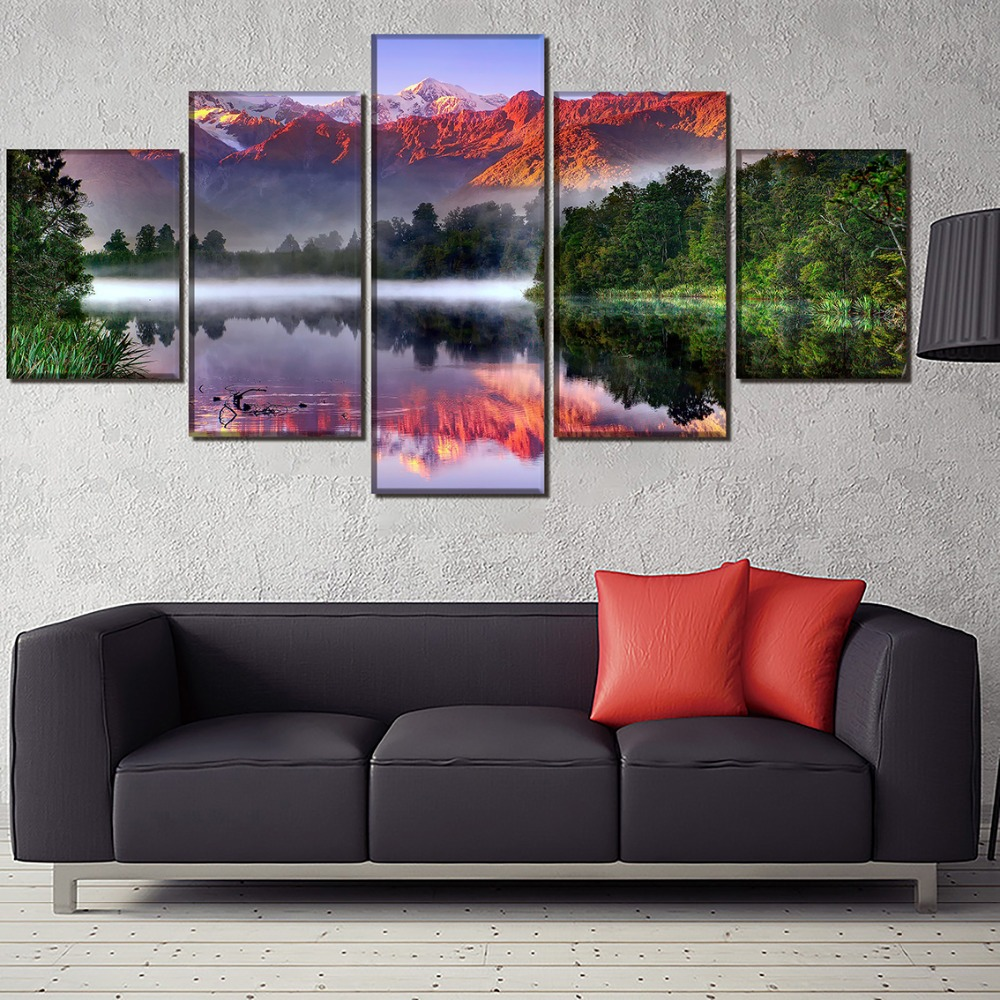HD Print Wall Art Canvas Painting Landscape Modern Home Canvas Wall Art For Living Room Painting Home Decor Picture Artwork in Painting Calligraphy from Home Garden