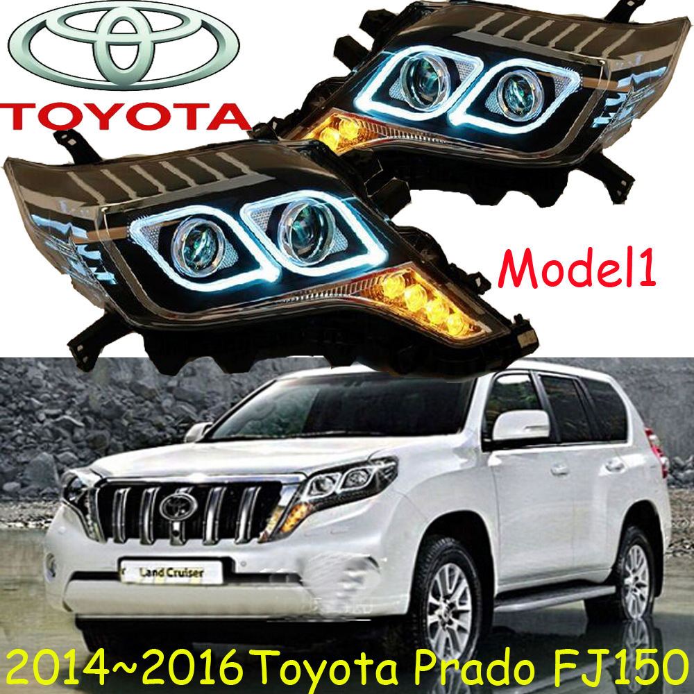 Prado headlight LC150 FJ150 2700 4000 2014 2016 Free ship Prado fog light 2ps set 2pcs