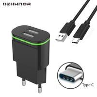 Cargador USB tipo C para móvil, Cargador USB tipo C para Xiaomi mi 8 a1 max 2 black shark mi8 huawei p20 lite honor 10 9
