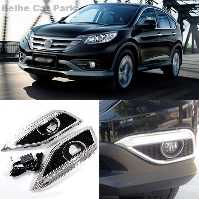 2pcs For Honda CR-V 2012-2015 High quality Car styling New LED DRL Car-special LED Daytime Running Light 2017 gps navigator car anti radar detector x k ka ultra k strelka 360 degree laser detection with russia language