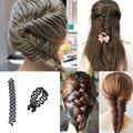 1 X Women Girls Hair Braiding Tool Roller Magic Twist Styling Bun Maker Locks Weaves Hair Band Accessories