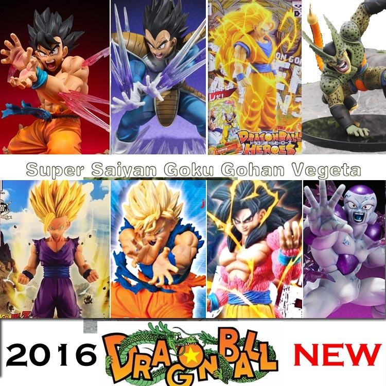 Anime Dragon Ball Z Super Saiyan 3 Son Goku Vegeta PVC Action Figure dbz Cell Buu