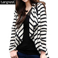 TANGNEST Striped Cardigan 2017 Women Blazers Cardigans Casual New Arrival Plus Size Tops Ladies Blazer Female Blaser WWK126