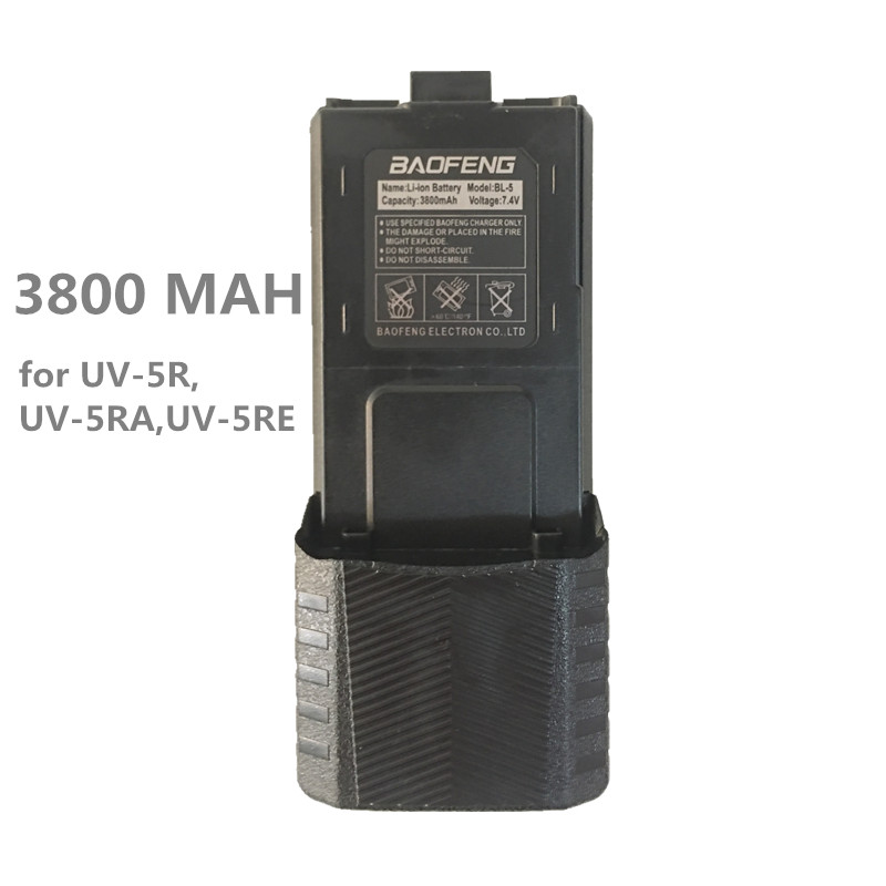 Enlarged 3800MAH BAOFENG UV-5R UV-5RA UV-5RE Battery Walkie Talkie Portable Two Way Radio UHF/VHF Transceiver UV 5R Accessories