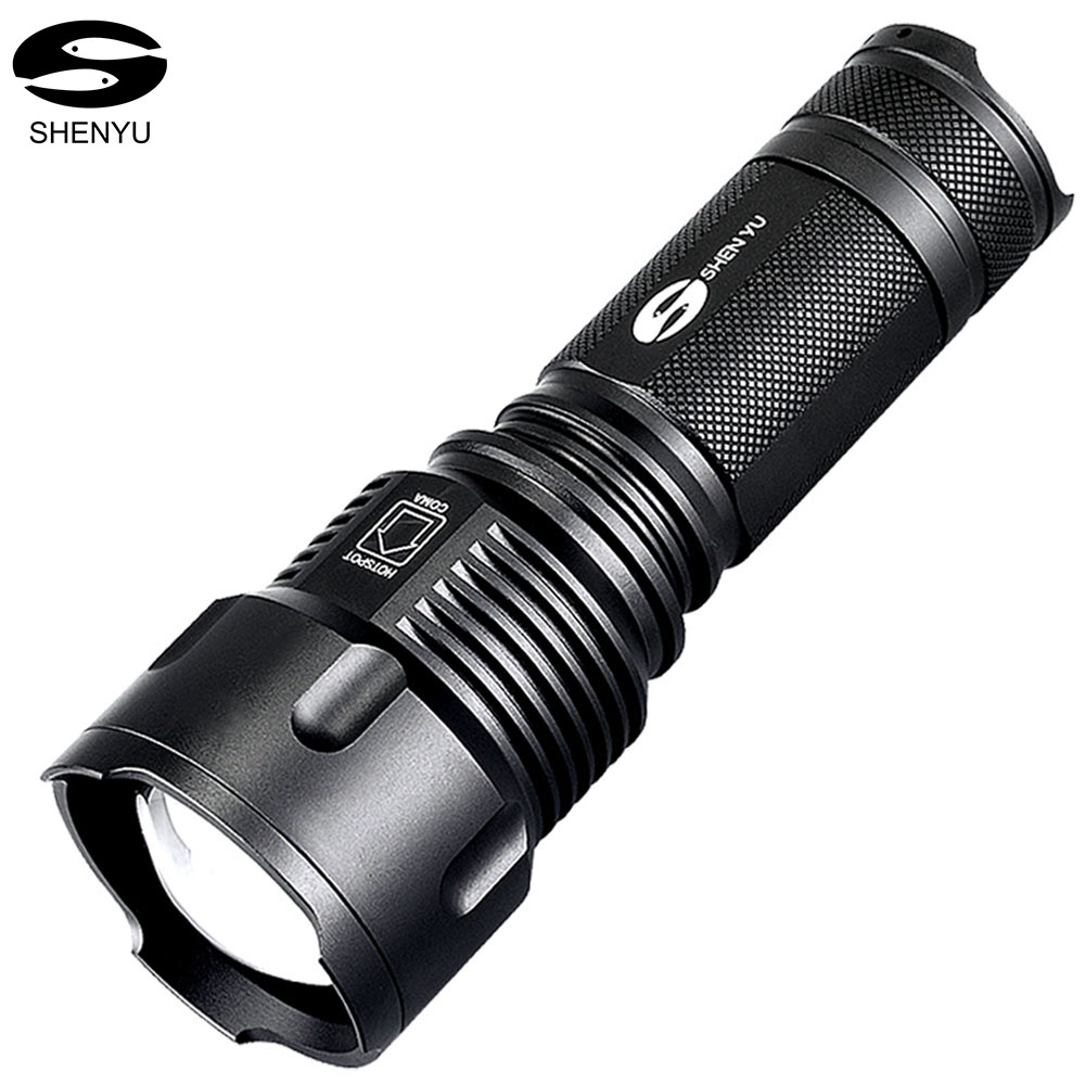 SHENYU LED Flashlight 26650 Zoom Torch Waterproof L6 2000LM 3 Mode Light For 3x AA or 3 7v Battery for Riding with bike holder in LED Flashlights from Lights Lighting