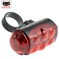 CATEYE Bike Bicycle 6 LED Rear Tail Laser Light Bike Back Red Light Safety Warning Flashing