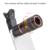12in1 Teléfono Lentes 8X Zoom Telescopio Teleobjetivo Lentes de ojo de Pez Macro Gran Angular Para El Teléfono Celular Con Clips de Trípode Monopie