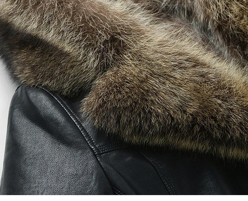 Leather Jacket Men Fur warm Motorcycle leather Jackets Men`s Stand collar Fashion Bomber Jacket Coat jaqueta de couro masculina