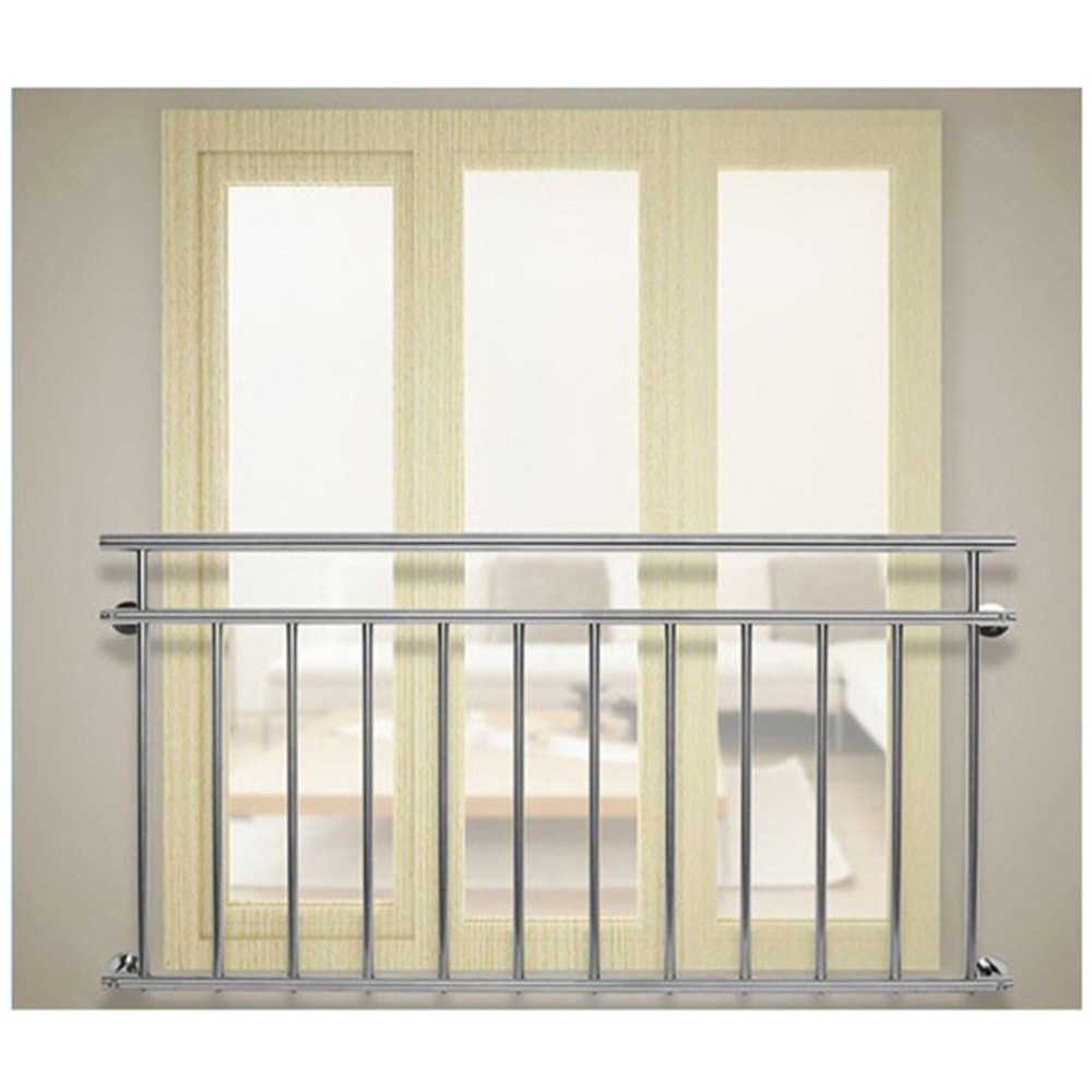 (Ship From DE) Stainless Steel Railing Balcony Stairs Window Fencing Rail Railing Security 184x90cm