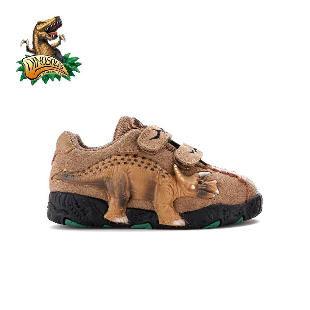 Dinosoles 3D Trex/Raptor/Tricera/Stego/Глаз/Анимация Динозавров shoes (Дети/Малыша/маленьких Детей)