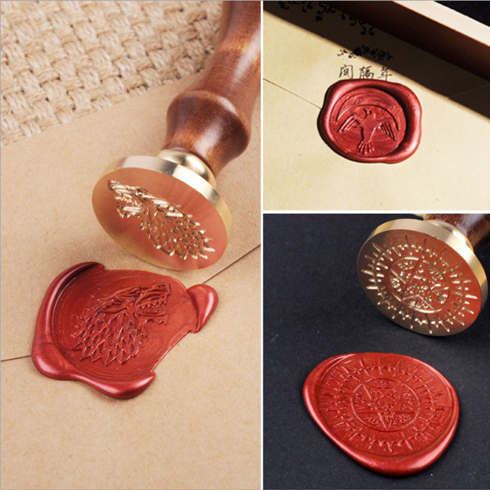 Personalized Retro Wood Classic Seal Sealing Wax Set Stick Stamp For ...