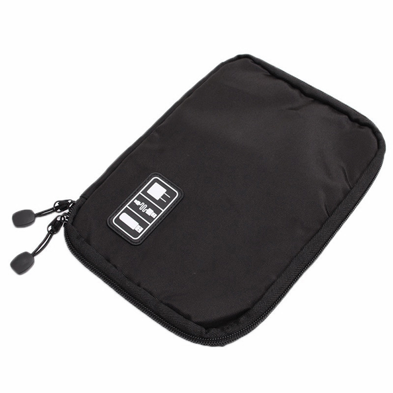 Storage USB Cable Organizer Bag Case Digital Earphone Travel Insert Black Gray
