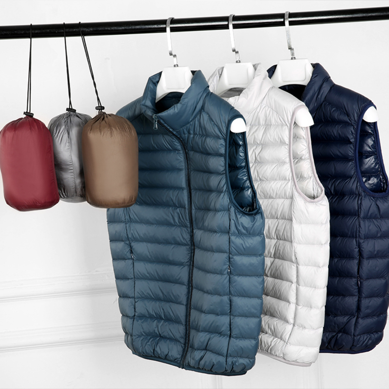 2017 Spring Man Duck Down Vest Ultra Light Jackets Men Fashion Outerwear Coat Autumn Winter Coat