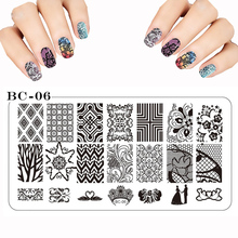 New Stamp Polish Steel Lace Butterfly Flower Nail Art Templates Sexy Image Stainless DIY Nail Stamping Plates Manicure 12x6cm