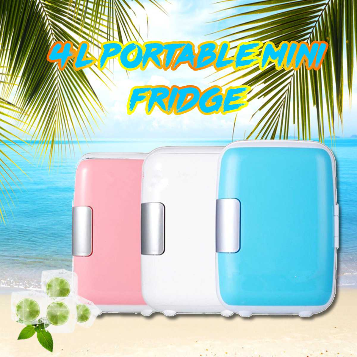4L Fridge Dual-use Cooler Warmer Auto Boat Home Office Freezer 220V-240V/12V Beer Cooler